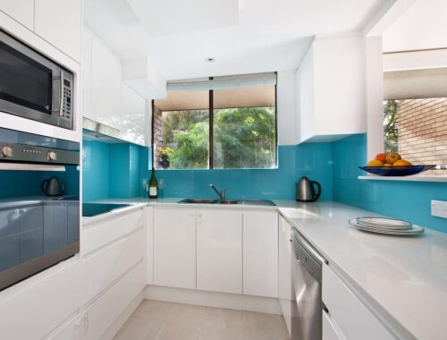 Akril Essence Blue Splashback Kitchen